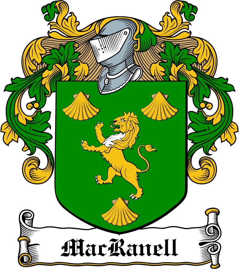 Thumbnail MacRanell Family Crest / Irish Coat of Arms Image Download