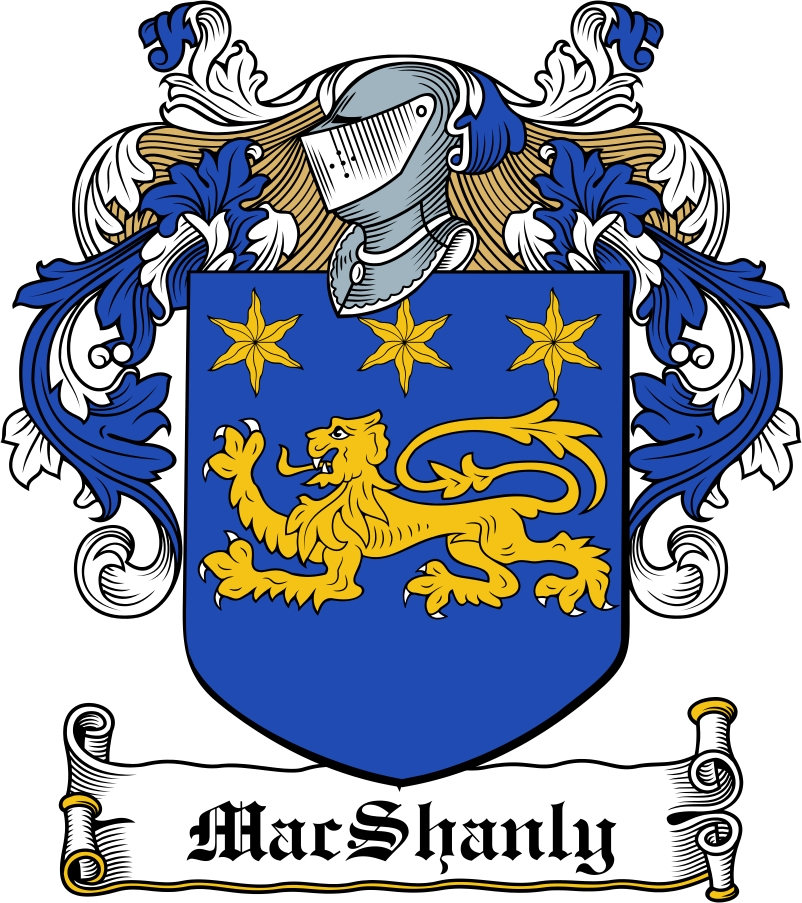 Thumbnail MacShanly Family Crest / Irish Coat of Arms Image Download