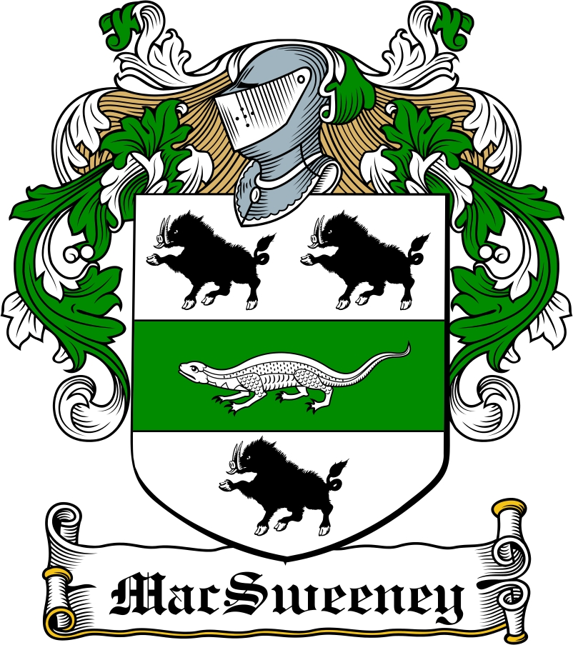 Thumbnail MacSweeney Family Crest / Irish Coat of Arms Image Download