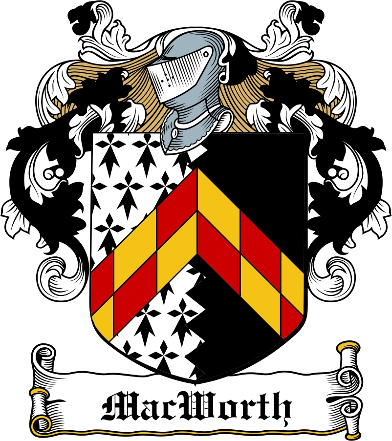 Thumbnail MacWorth Family Crest / Irish Coat of Arms Image Download