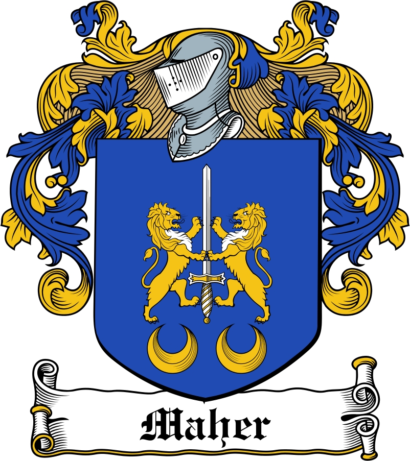 Thumbnail Maher Family Crest / Irish Coat of Arms Image Download