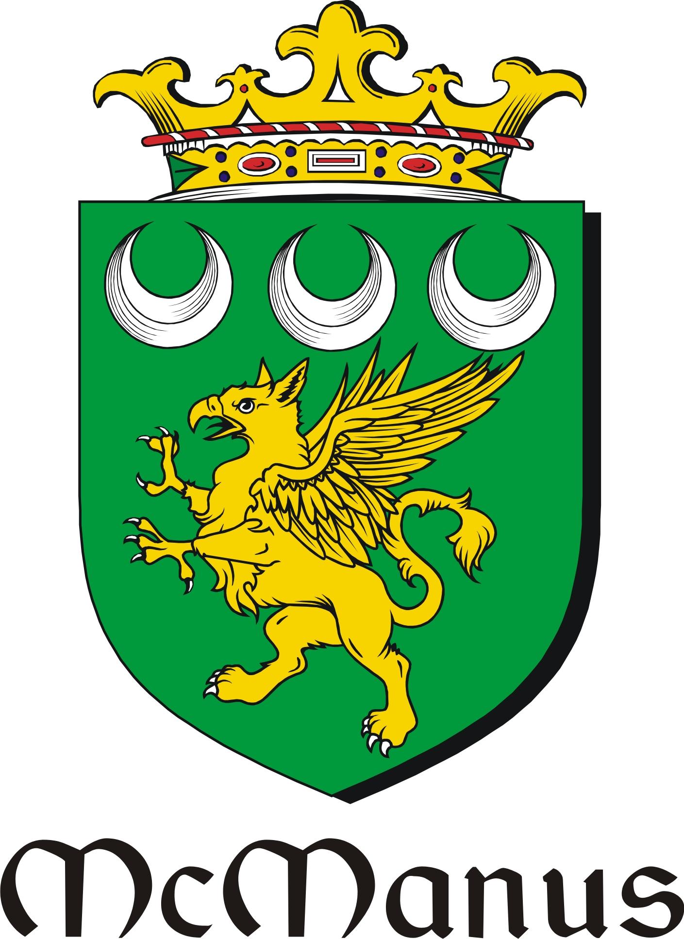 Thumbnail Manus-Mc Family Crest / Irish Coat of Arms Image Download