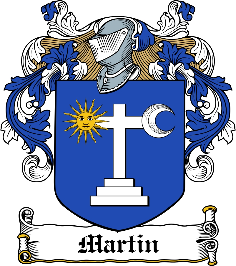 Thumbnail Martin Family Crest / Irish Coat of Arms Image Download