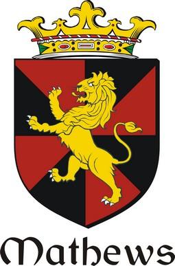 Thumbnail Mathews Family Crest / Irish Coat of Arms Image Download