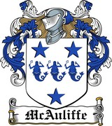 Thumbnail McAuliffe Family Crest / Irish Coat of Arms Image Download