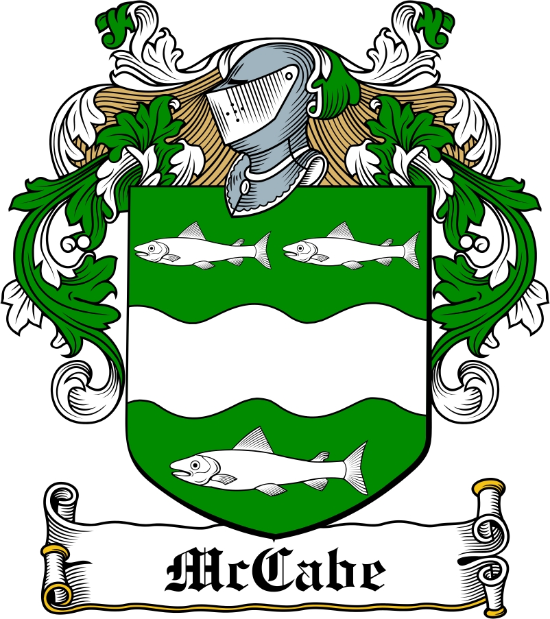 Thumbnail McCabe Family Crest / Irish Coat of Arms Image Download