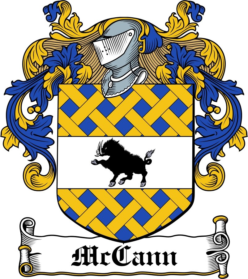 Thumbnail McCann Family Crest / Irish Coat of Arms Image Download