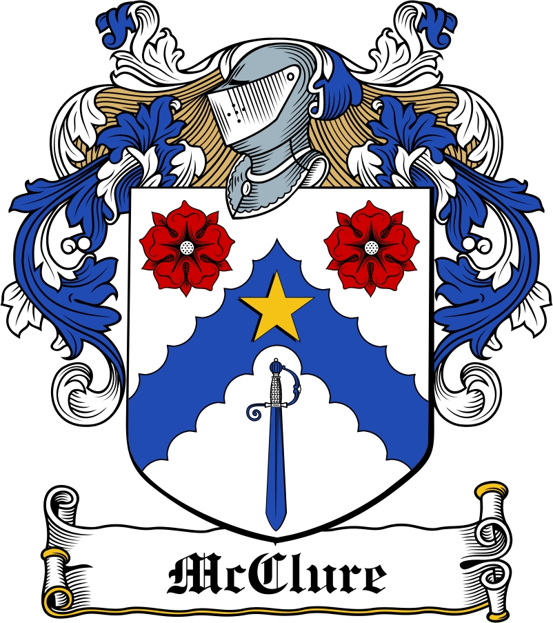 Thumbnail McClure Family Crest / Irish Coat of Arms Image Download