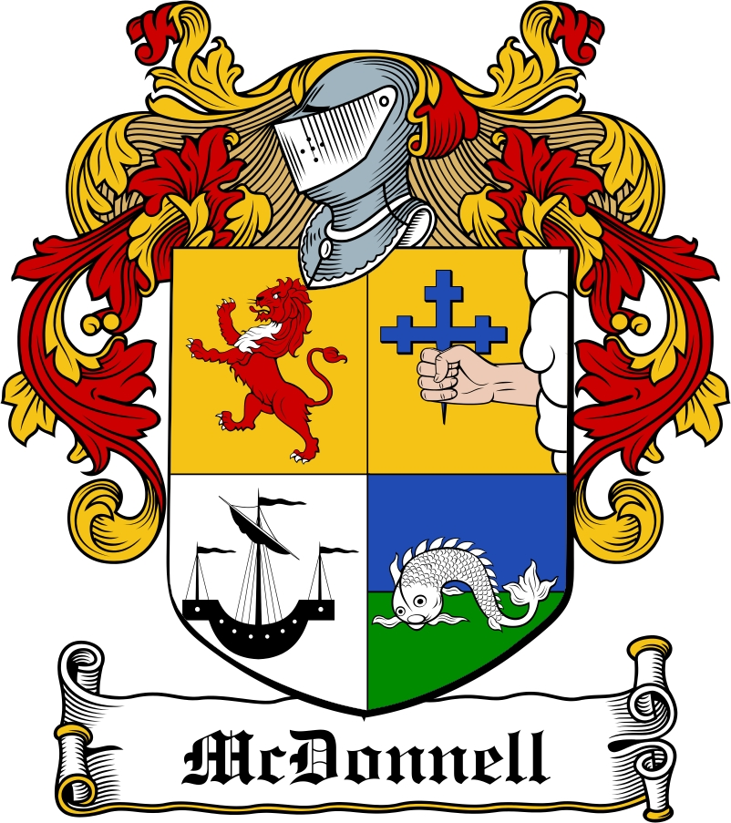 Thumbnail McDonnell Family Crest / Irish Coat of Arms Image Download