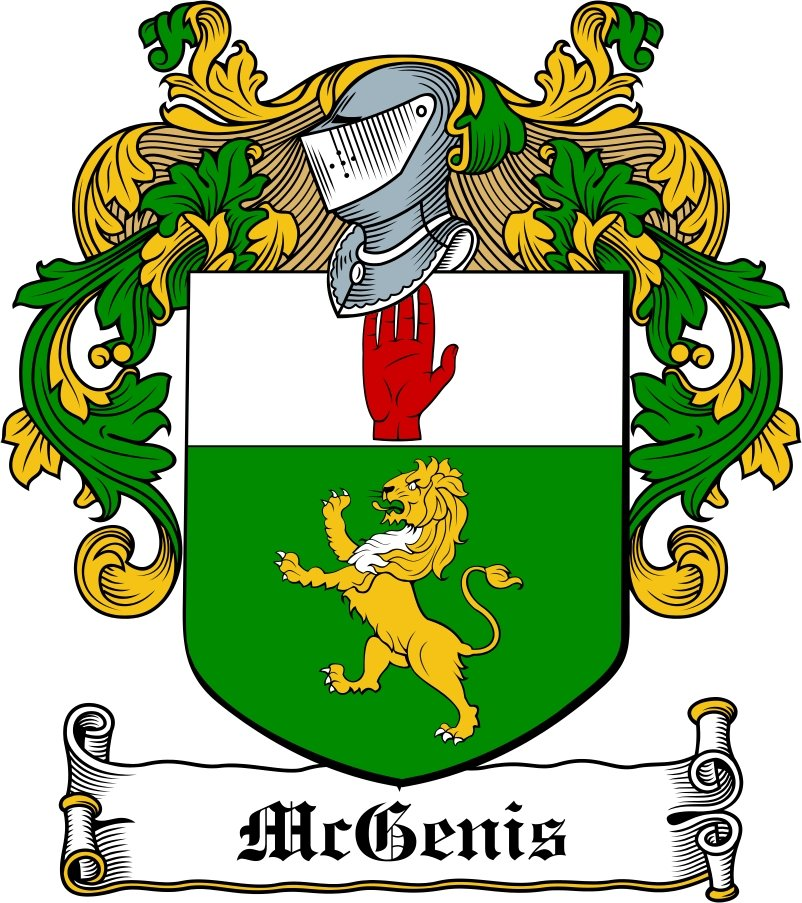 Thumbnail McGenis Family Crest / Irish Coat of Arms Image Download