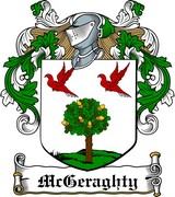 Thumbnail McGeraghty Family Crest / Irish Coat of Arms Image Download