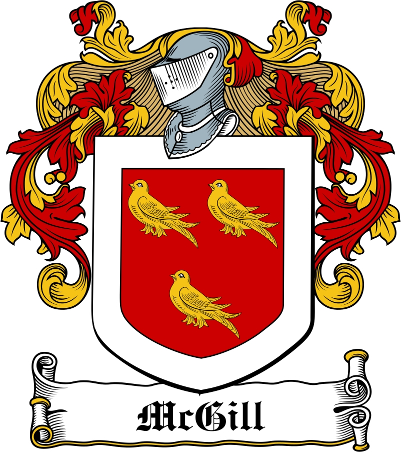 Thumbnail McGill Family Crest / Irish Coat of Arms Image Download