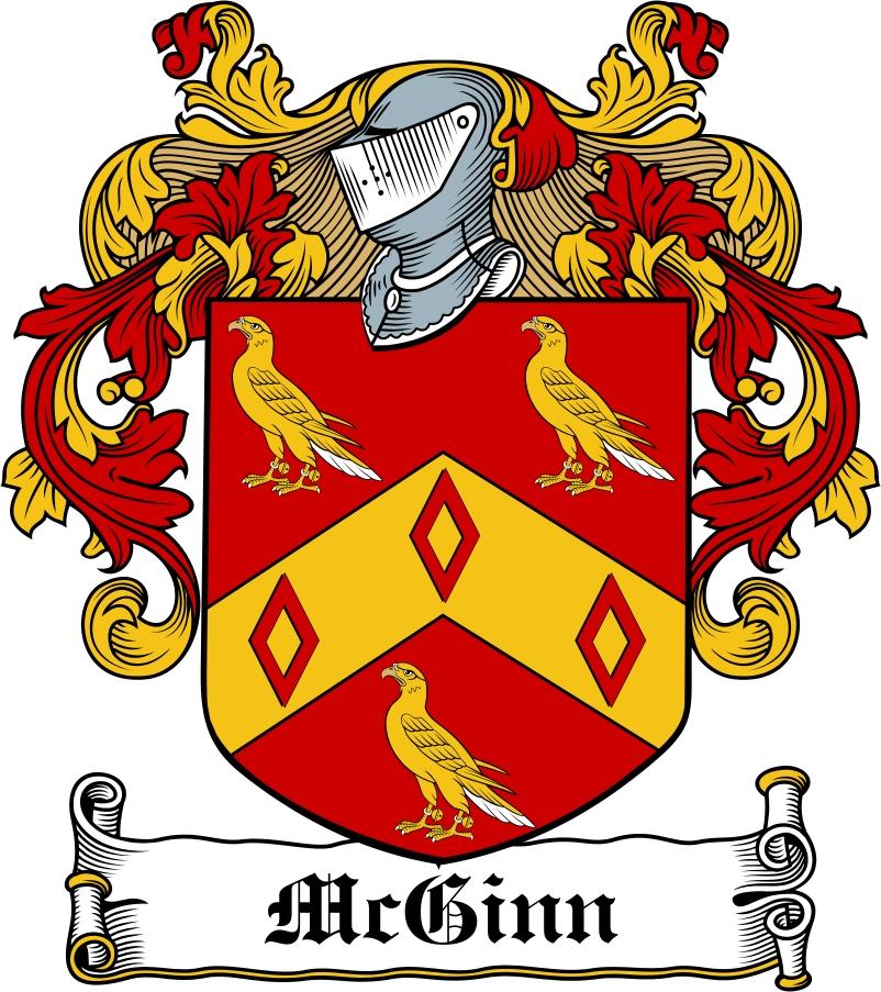Thumbnail McGinn Family Crest / Irish Coat of Arms Image Download