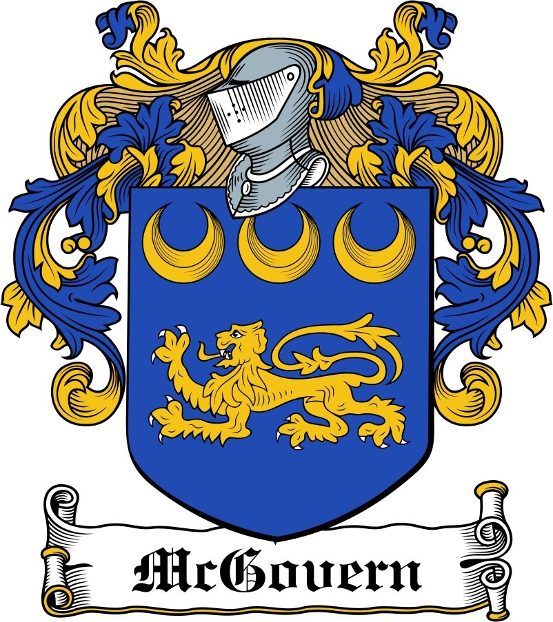 Thumbnail McGovern Family Crest / Irish Coat of Arms Image Download