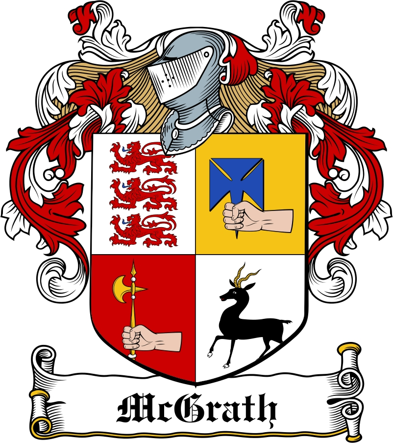 Thumbnail McGrath Family Crest / Irish Coat of Arms Image Download