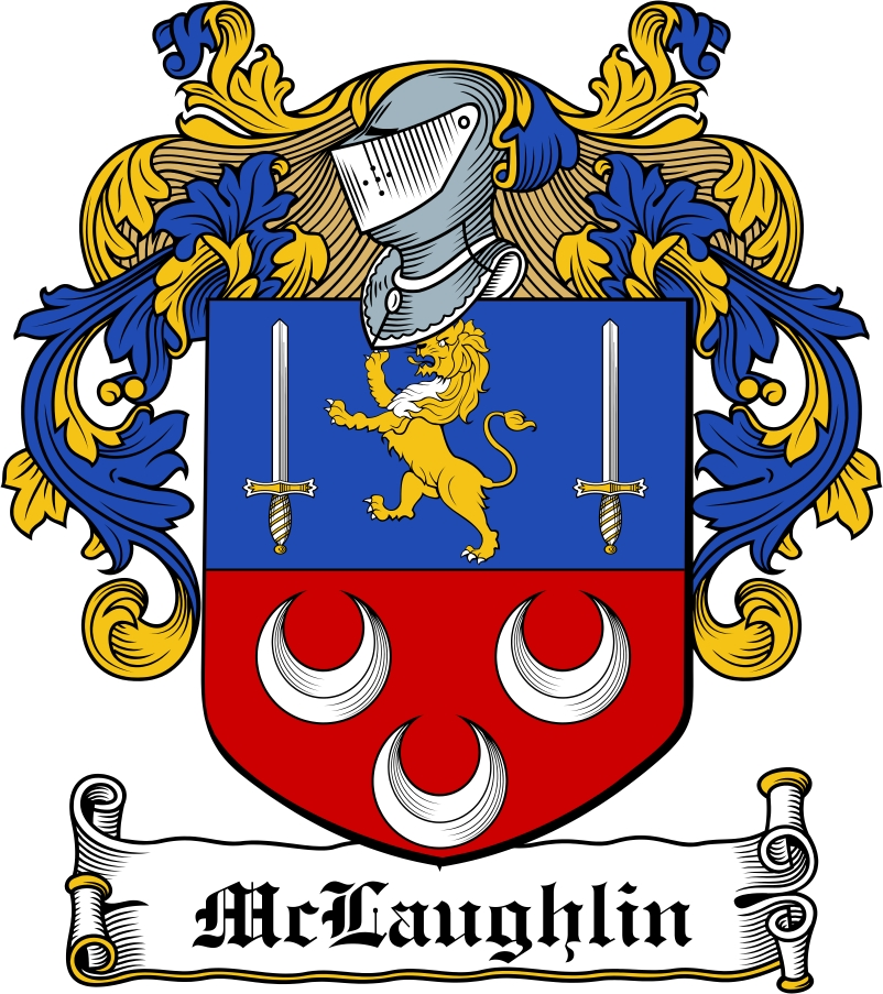 Thumbnail McLaughlin Family Crest / Irish Coat of Arms Image Download