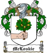Thumbnail McLoskie Family Crest / Irish Coat of Arms Image Download