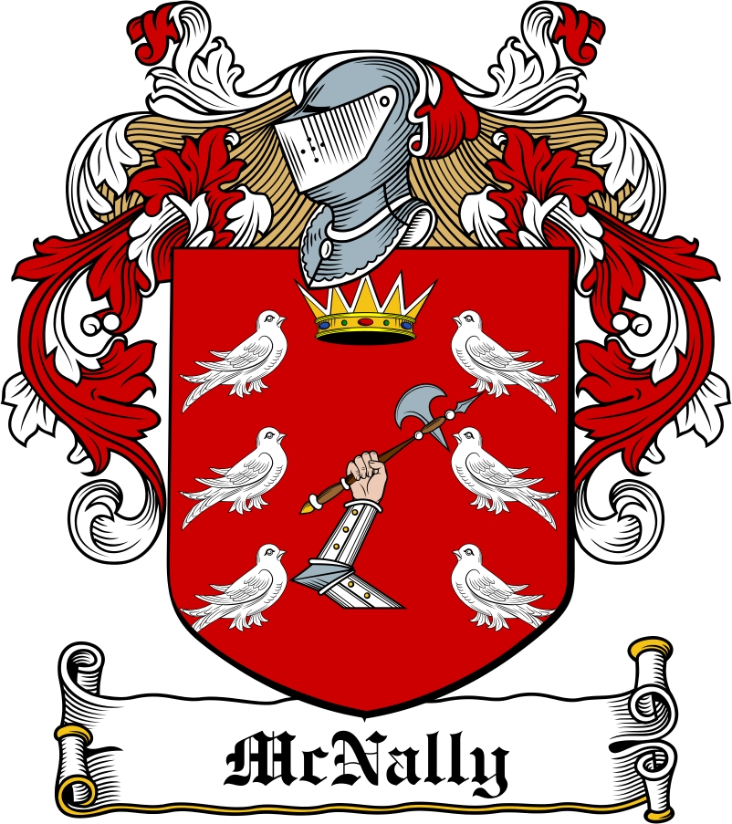 Thumbnail McNally Family Crest / Irish Coat of Arms Image Download