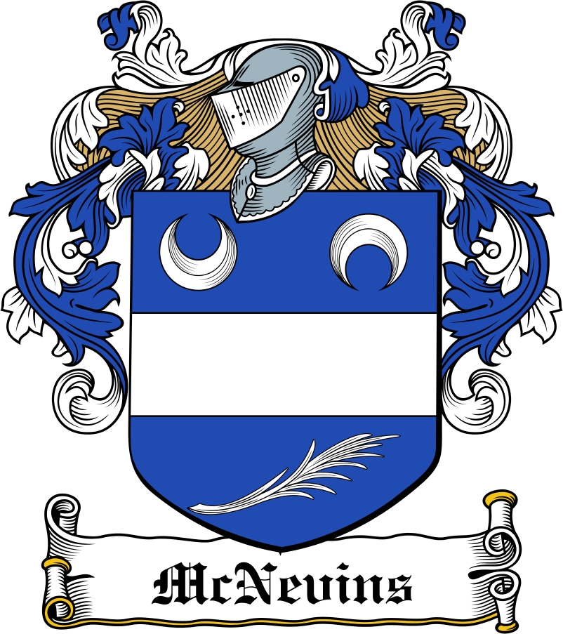 Thumbnail McNevins Family Crest / Irish Coat of Arms Image Download