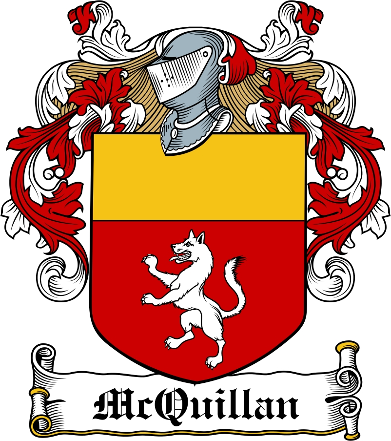 Thumbnail McQuillan Family Crest / Irish Coat of Arms Image Download