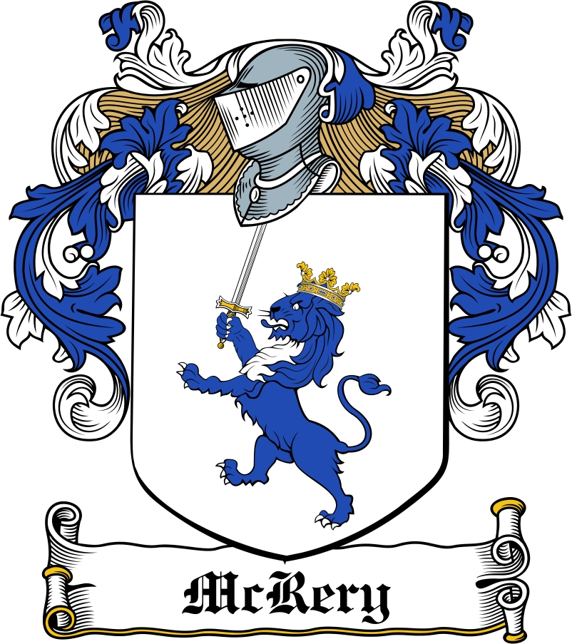 Thumbnail McRery Family Crest / Irish Coat of Arms Image Download