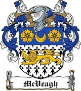Thumbnail McVeagh Family Crest / Irish Coat of Arms Image Download