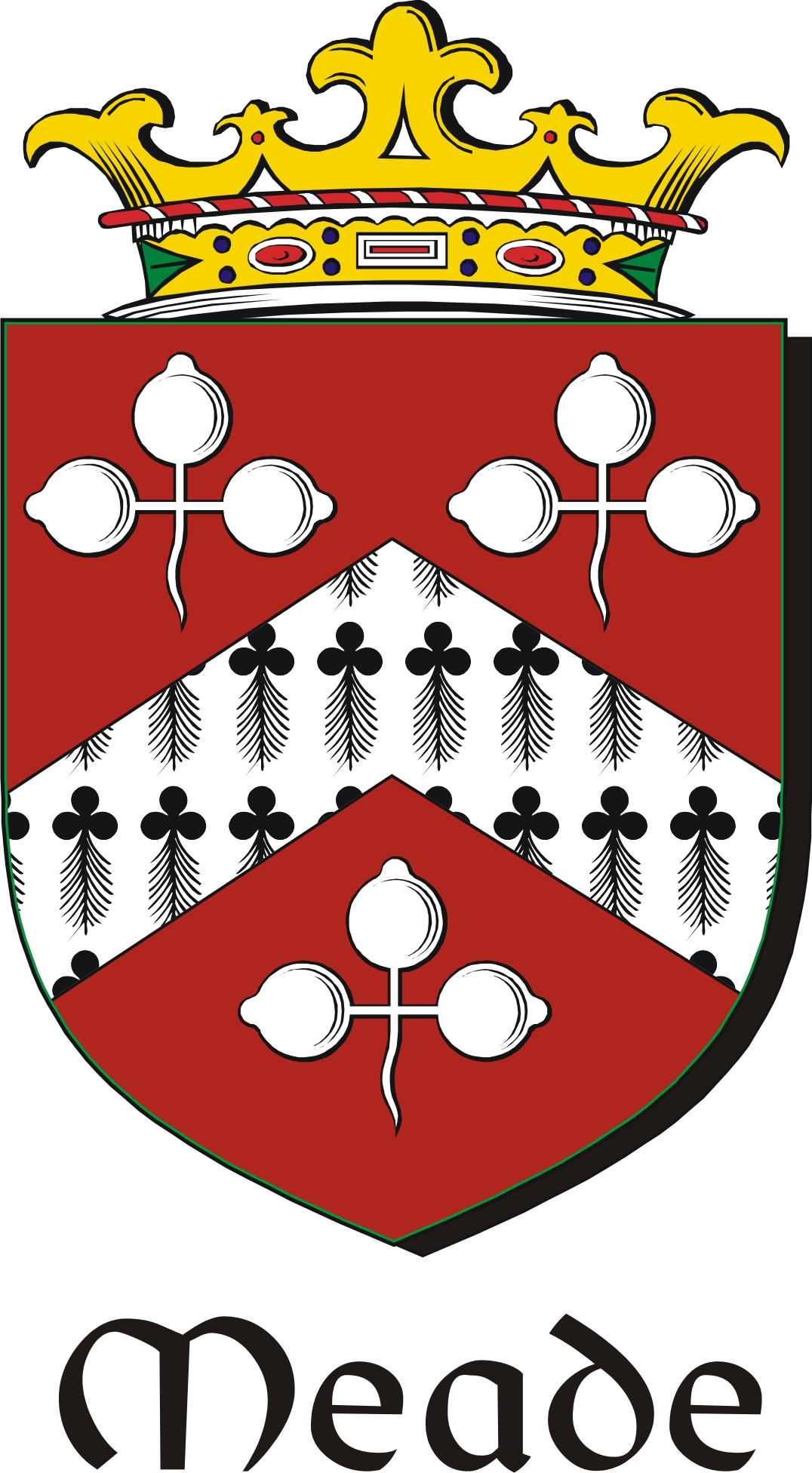 Thumbnail Meade Family Crest / Irish Coat of Arms Image Download