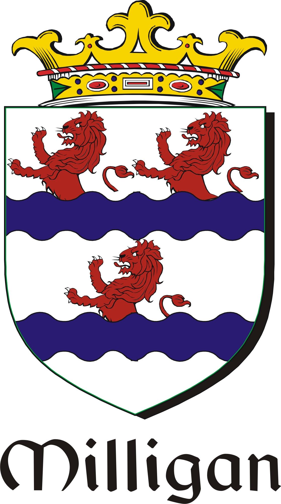 Thumbnail Milligan Family Crest / Irish Coat of Arms Image Download