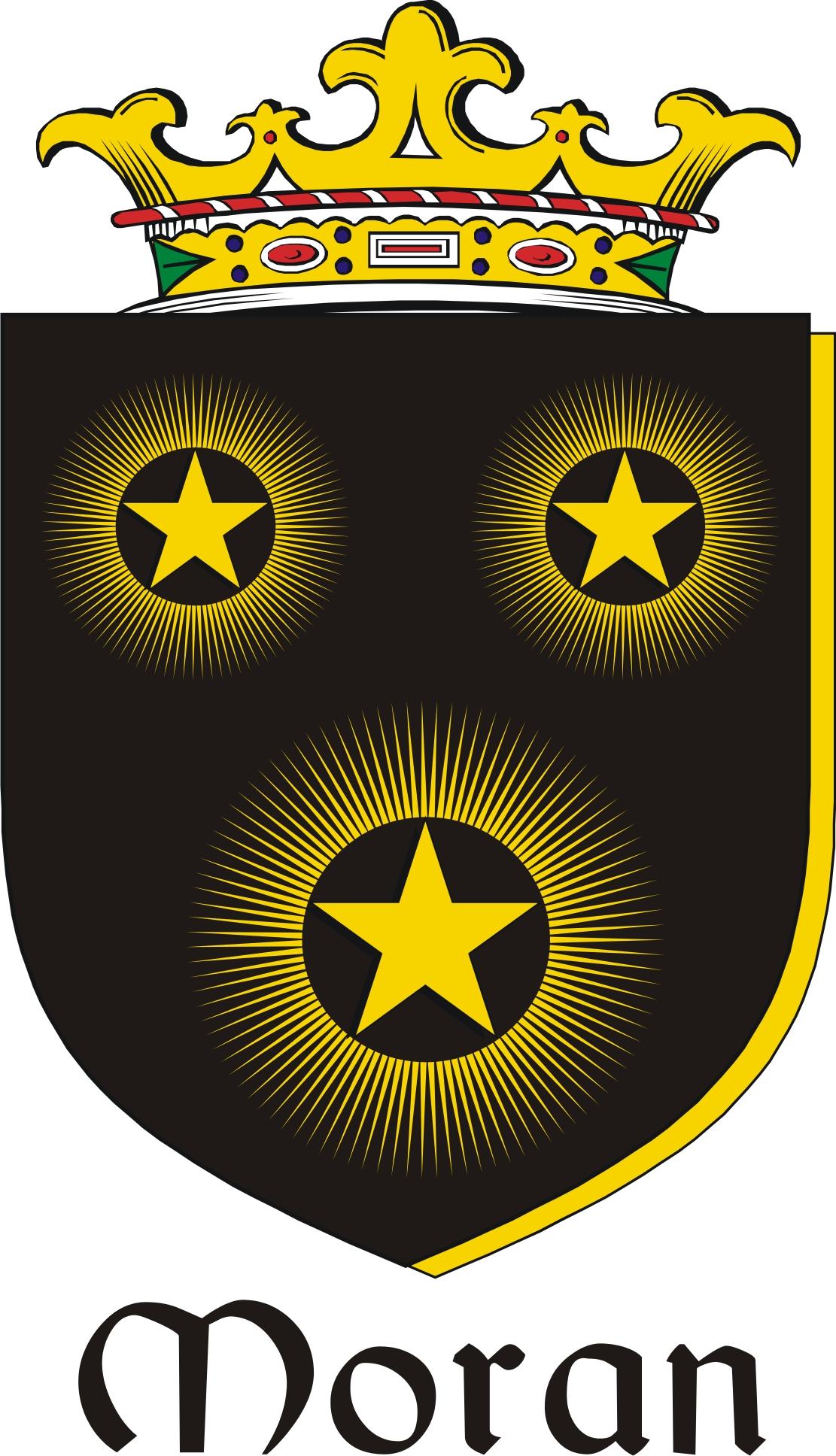 Thumbnail Moran Family Crest / Irish Coat of Arms Image Download