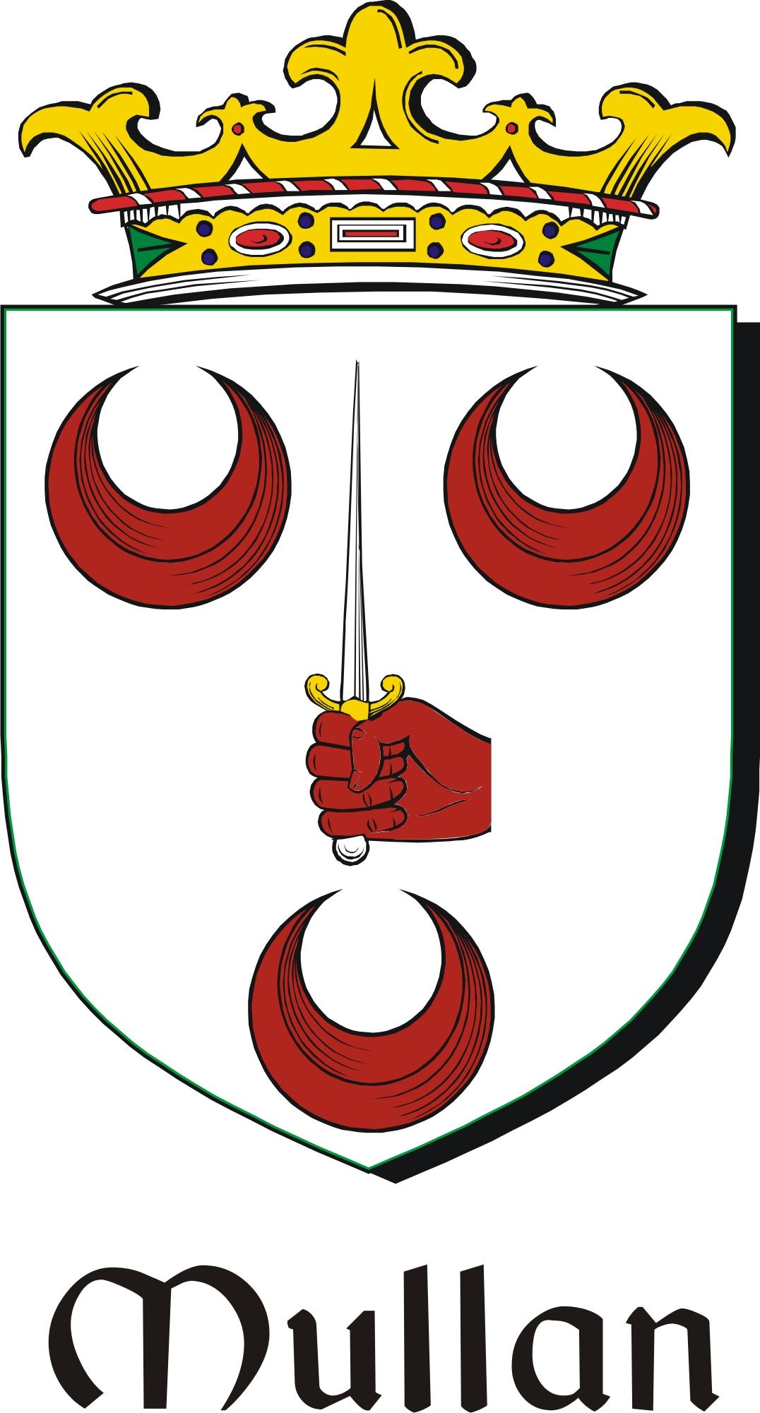 Thumbnail Mullan Family Crest / Irish Coat of Arms Image Download