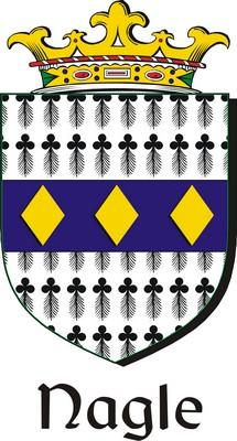 Thumbnail Nagle Family Crest / Irish Coat of Arms Image Download
