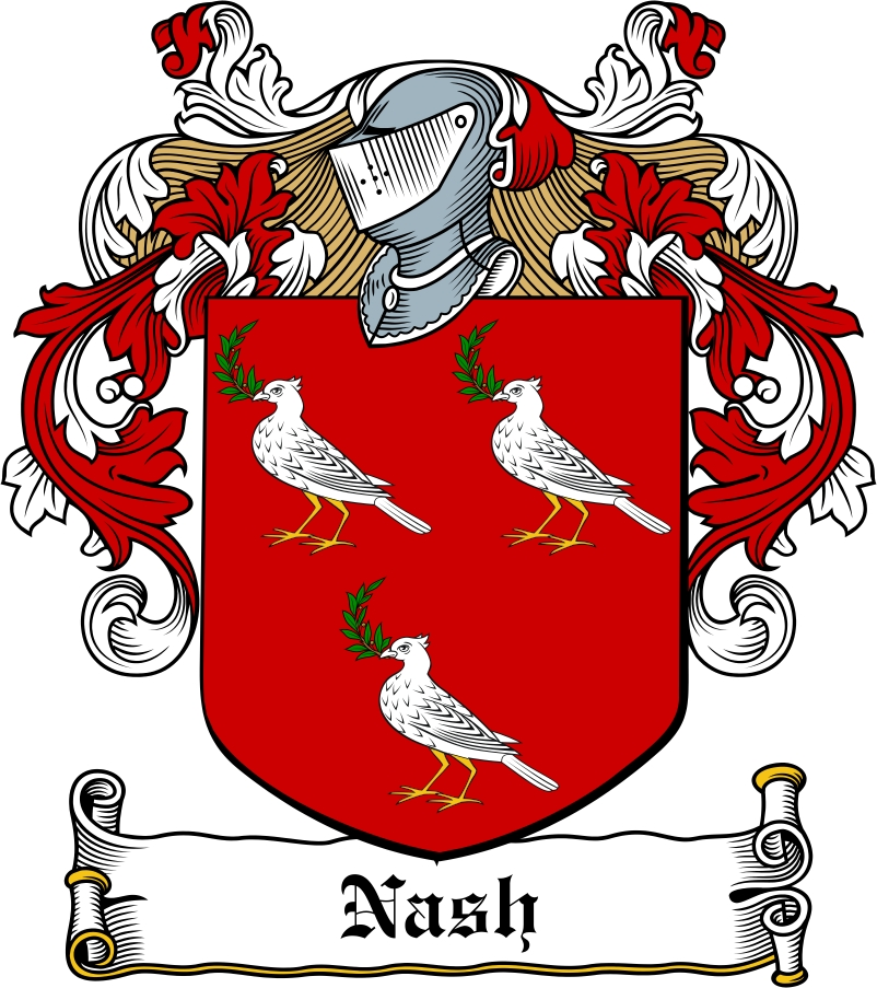 Thumbnail Nash Family Crest / Irish Coat of Arms Image Download