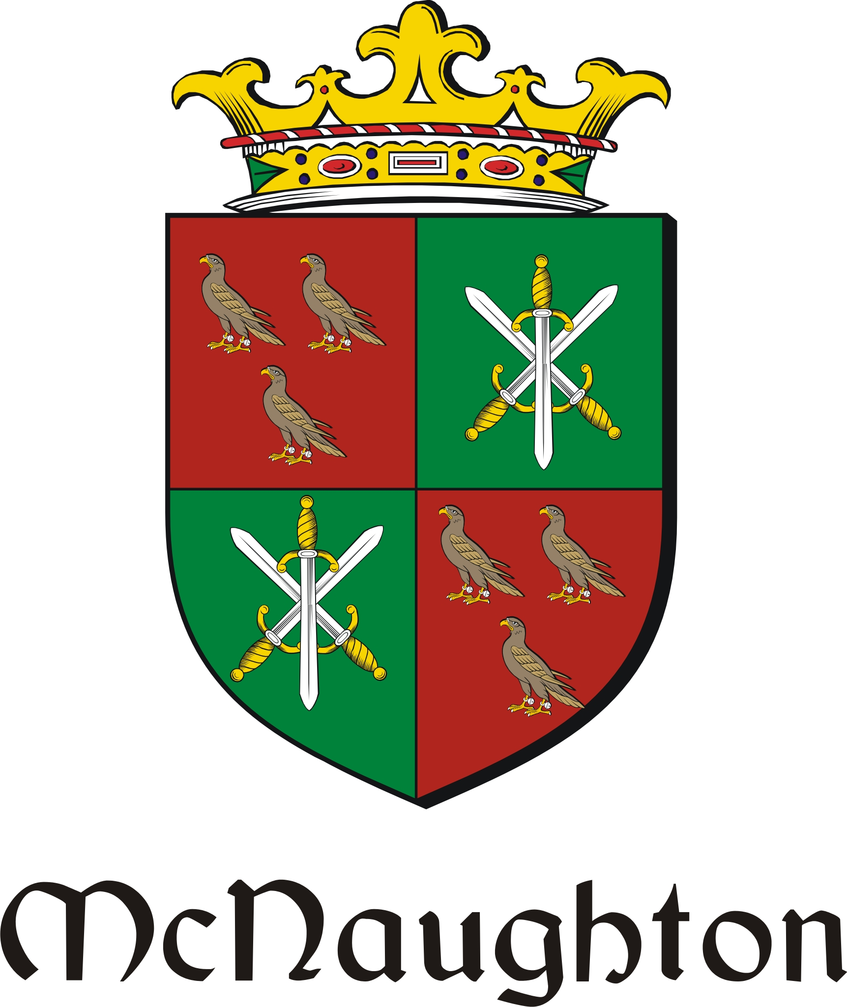 Thumbnail Naughton-Mc Family Crest / Irish Coat of Arms Image Download
