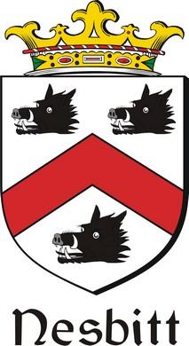 Thumbnail Nesbitt Family Crest / Irish Coat of Arms Image Download