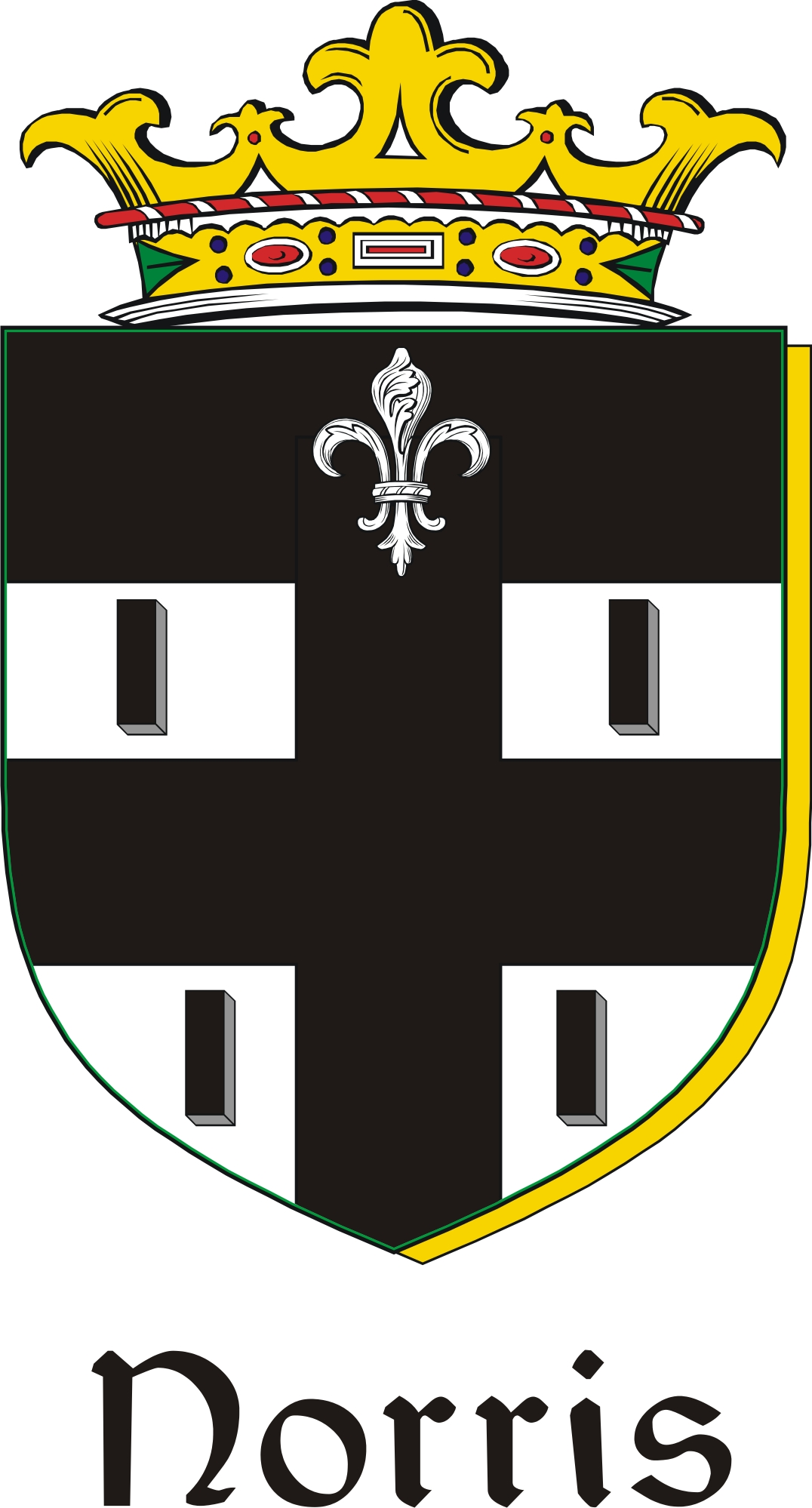 Thumbnail Norris Family Crest / Irish Coat of Arms Image Download
