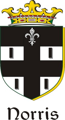 Thumbnail Norris Family Crest / Irish Coat of Arms Image Download