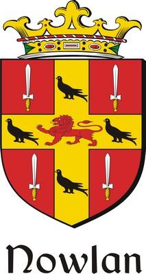 Thumbnail Nowlan Family Crest / Irish Coat of Arms Image Download
