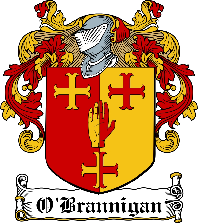 Thumbnail O'Brannigan Family Crest / Irish Coat of Arms Image Download
