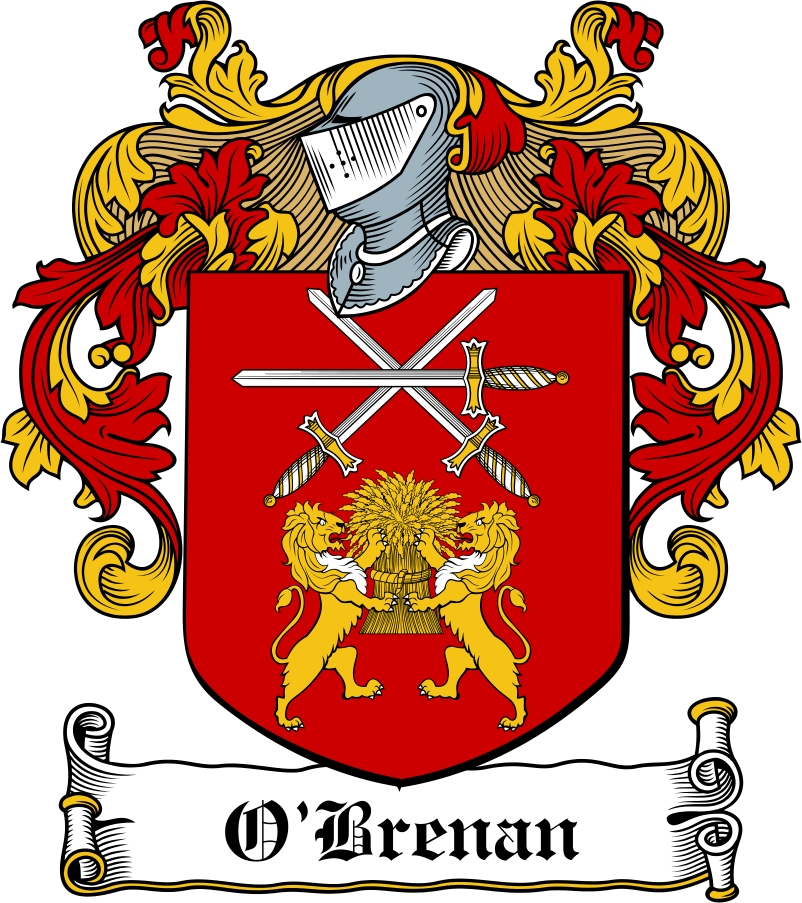 Thumbnail O'Brenan Family Crest / Irish Coat of Arms Image Download