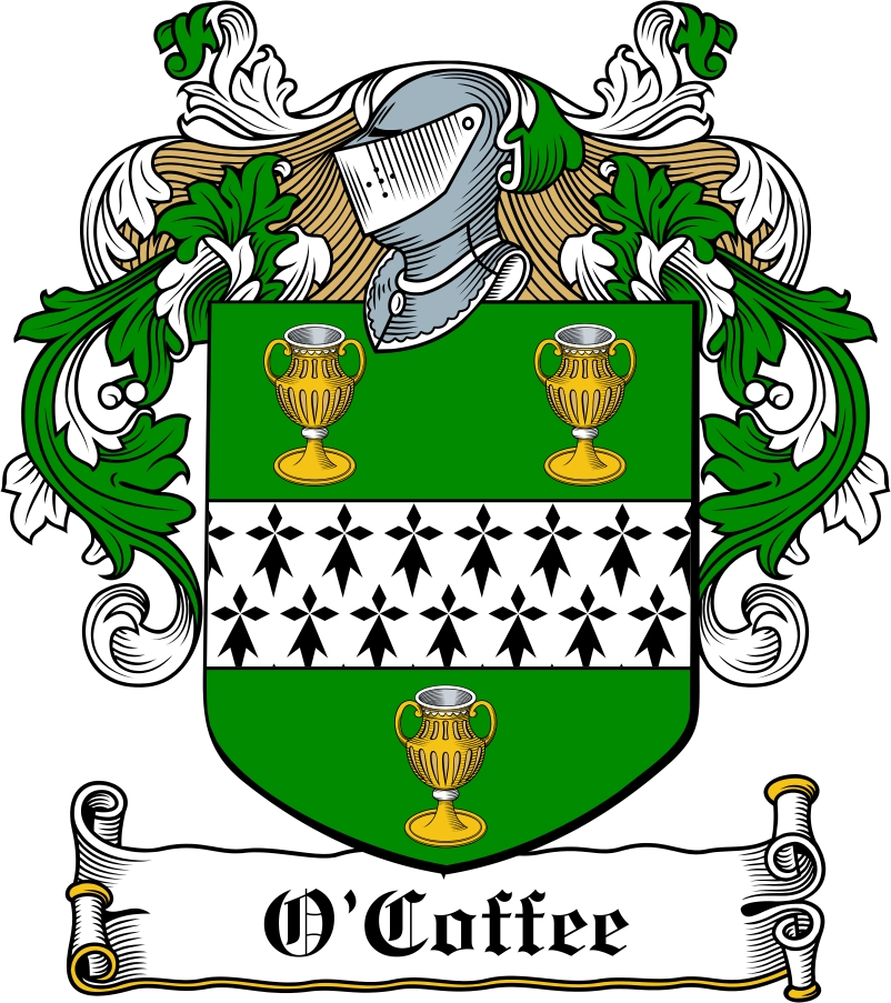 Thumbnail O'Coffee Family Crest / Irish Coat of Arms Image Download
