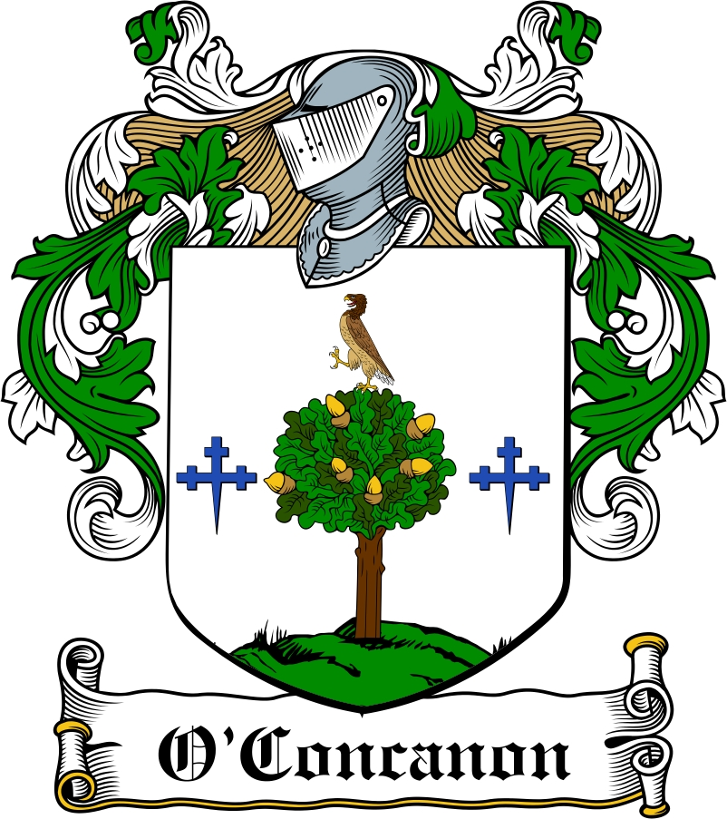 Thumbnail O'Concanon Family Crest / Irish Coat of Arms Image Download
