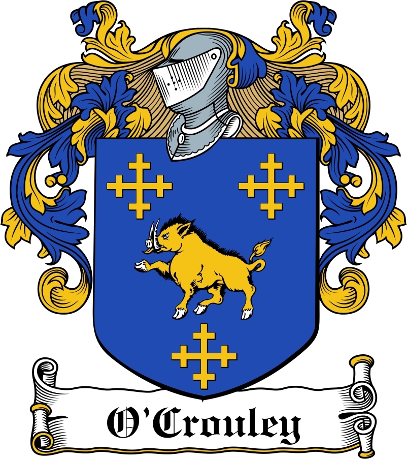 Thumbnail O'Crouley Family Crest / Irish Coat of Arms Image Download