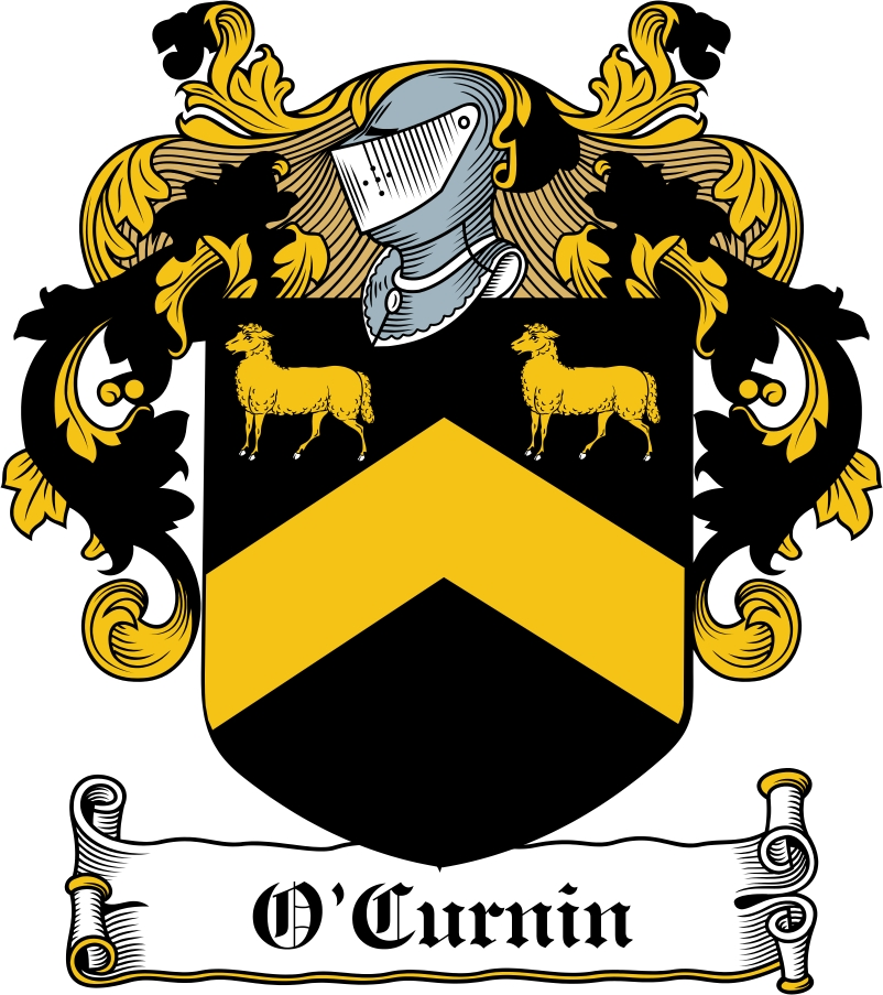 Thumbnail O'Curnin Family Crest / Irish Coat of Arms Image Download