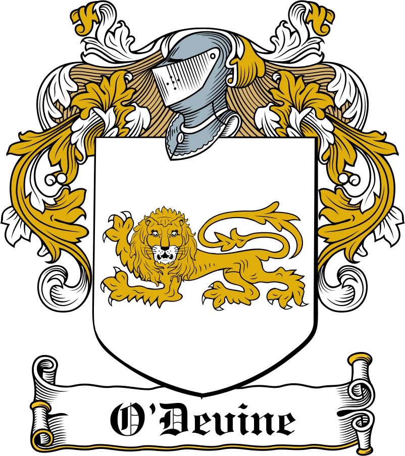 Thumbnail O'Devine Family Crest / Irish Coat of Arms Image Download