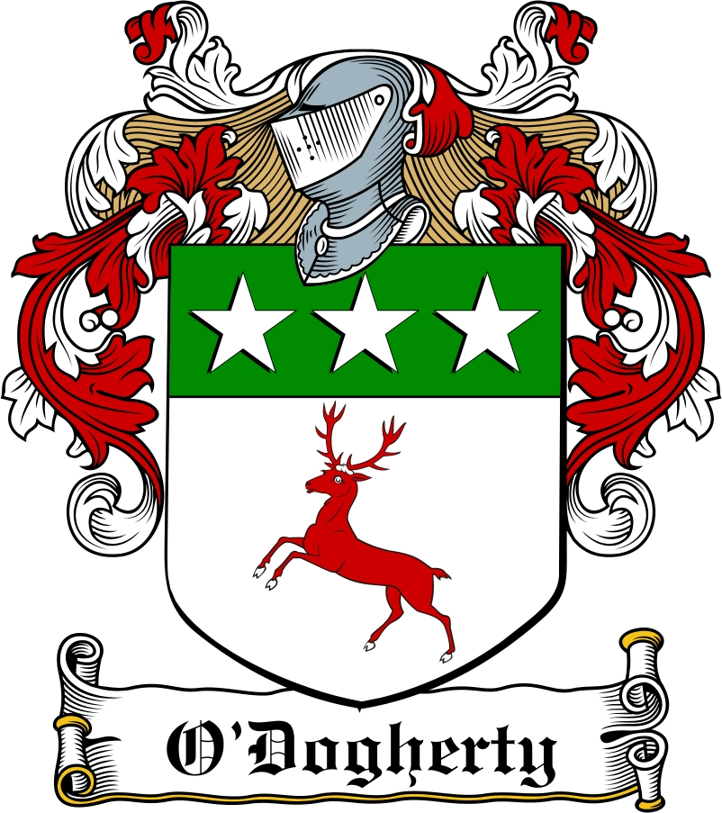 Thumbnail O'Dogherty Family Crest / Irish Coat of Arms Image Download