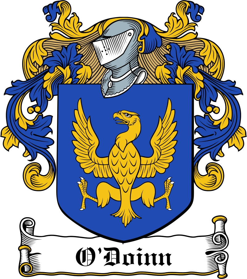 Thumbnail O'Doinn Family Crest / Irish Coat of Arms Image Download
