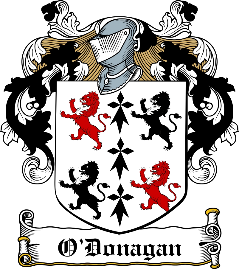 Thumbnail O'Donagan Family Crest / Irish Coat of Arms Image Download