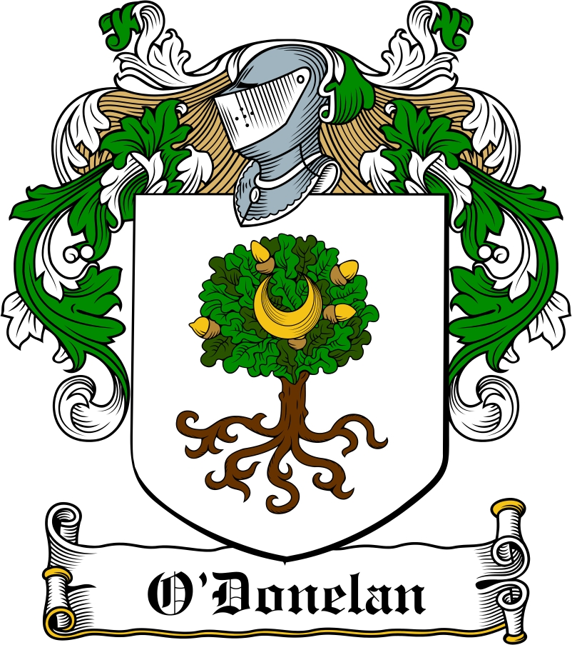 Thumbnail O'Donelan Family Crest / Irish Coat of Arms Image Download