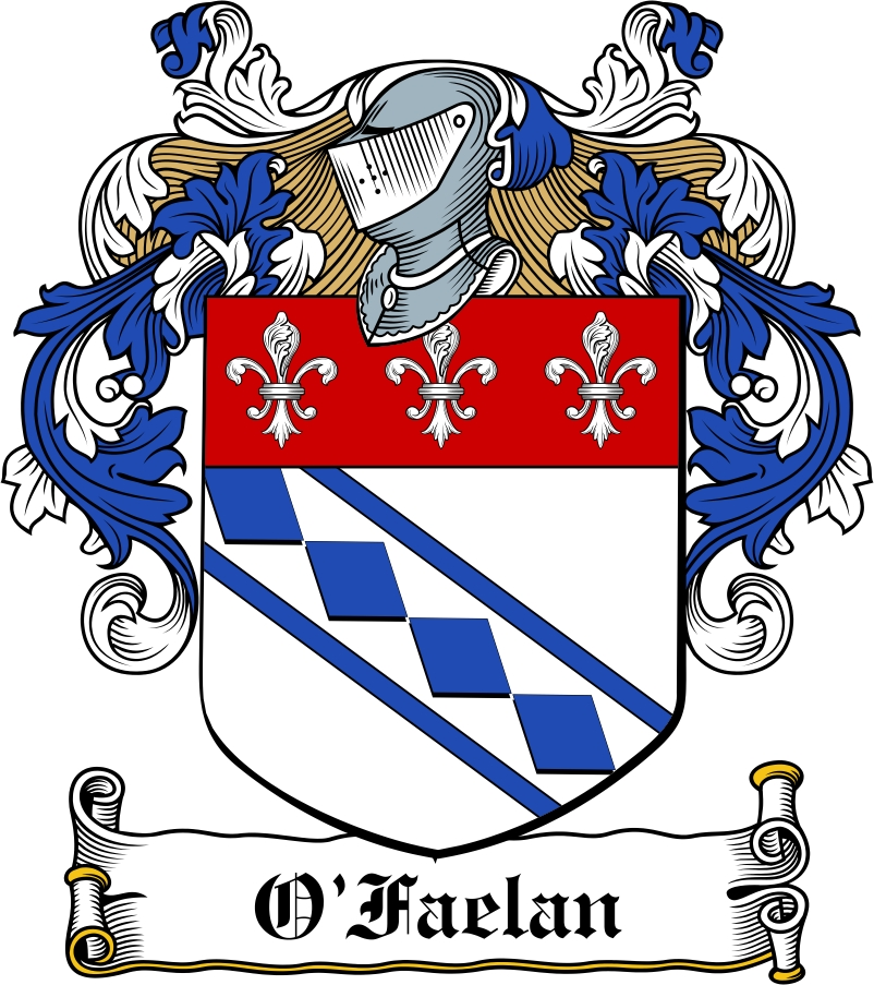 Thumbnail O'Faelan Family Crest / Irish Coat of Arms Image Download