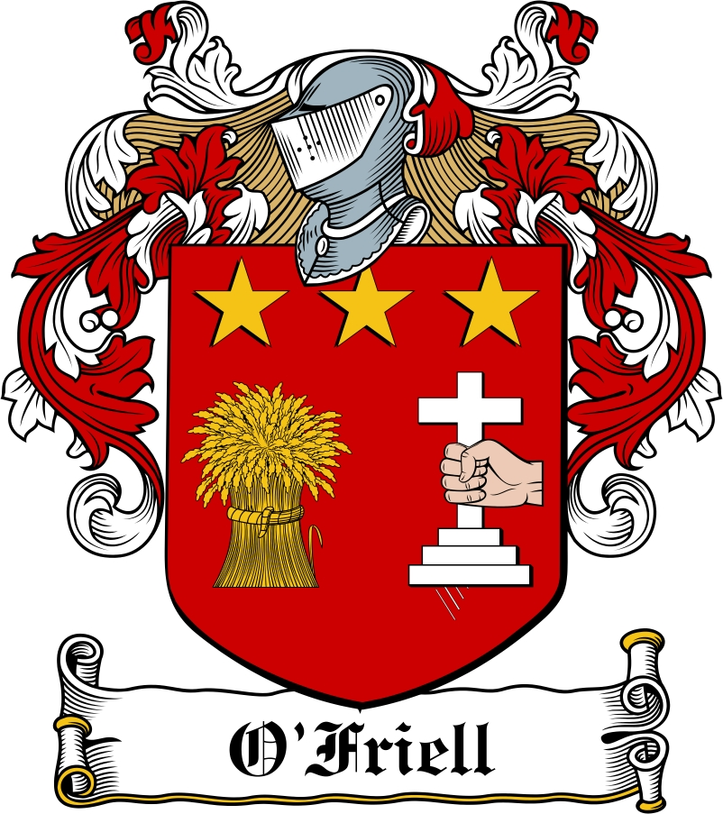 Thumbnail O'Friell Family Crest / Irish Coat of Arms Image Download
